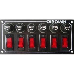 Tablero con 6 Switch