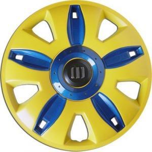 Polvera ABS Amarilla/Azul